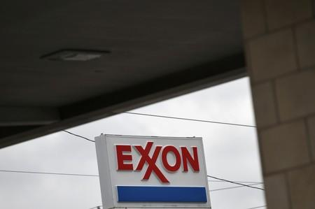 FILE PHOTO: An Exxon gas station is seen in Houston