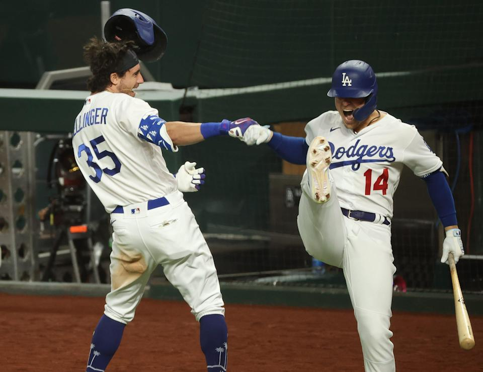 Cody Bellinger separated his right shoulder during a powerful forearm bash with teammate Kiké Hernandez during Game 7 of the NLCS.