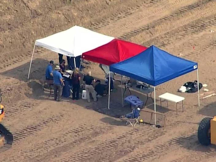 On July 23, 2019, the remains of Jonelle Matthews were discovered by an excavation crew digging a pipeline in a rural area southeast of Greeley, Colorado. / Credit: KCNC