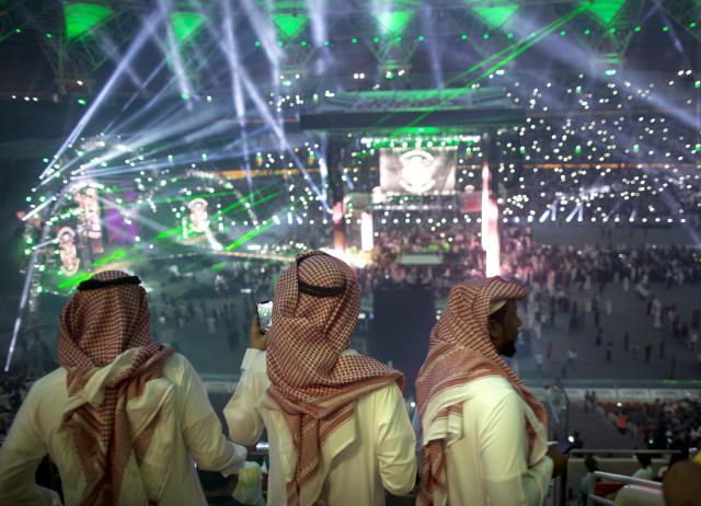 The WWE is scheduled to hold another event in the country of Saudi Arabia on Nov. 2. (AP)