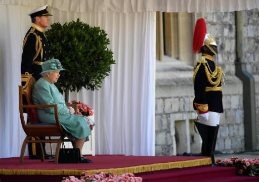 It was the first time the castle, west of London, has staged an event to mark a sovereign's official birthday since 1895, when a ceremony was held in honour of Queen Victoria
