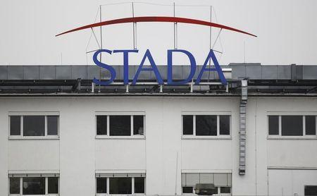 FILE PHOTO - Logo of the pharmaceutical company Stada Arzneimittel AG is pictured at its headquarters in Bad Vilbel