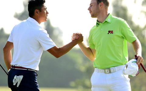 <span>Ellis and Plant were well beaten by the American pairing</span> <span>Credit: GETTY IMAGES </span>