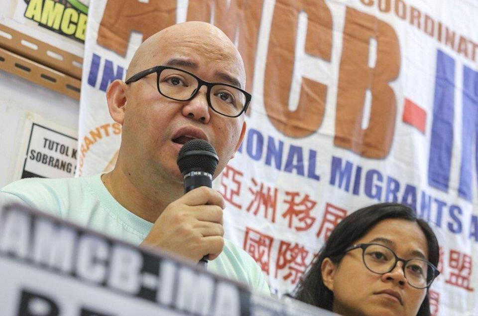 Eman Villanueva, spokesman for the Asian Migrants Coordinating Body. Photo: Felix Wong