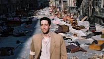 <p> Director Roman Polanski adapted a memoir by Polish composer Wadysaw Szpilman of his time living as a Jew during WWII in Warsaw in the Oscar-winning The Pianist. French actor Adrien Brody gives a tortured performance as Szpilman, and his grief is palpable. If you can hold it together to make it through this sad, but spectacular film, it's more than worth it. </p>