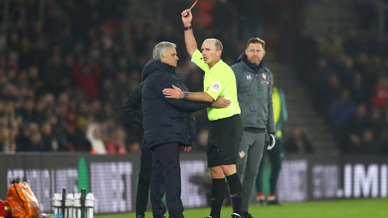 'I was rude to an idiot' - Mourinho admits he 'clearly deserved' yellow card after wandering into Southampton technical area