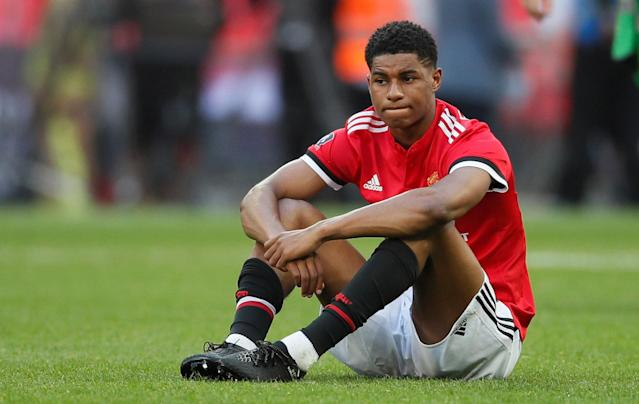 Soccer Football - FA Cup Final - Chelsea vs Manchester United - Wembley Stadium, London, Britain - May 19, 2018 Manchester United's Marcus Rashford looks dejected after the match REUTERS/David Klein