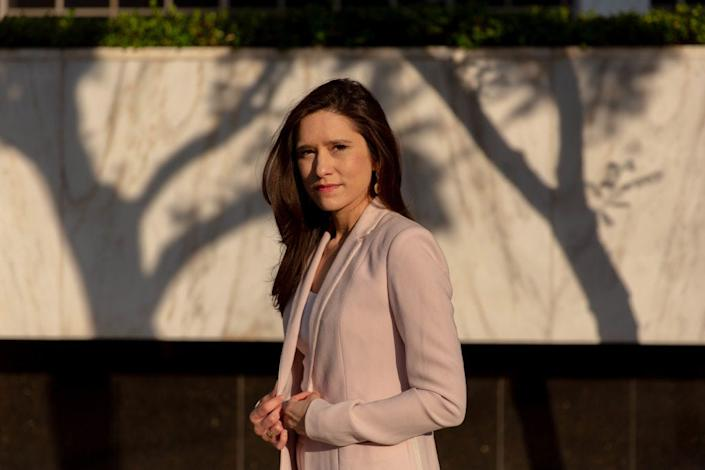 Jessica Denson, former Trump campaign staffer, in Los Angeles, where she currently resides on Tuesday, August 4, 2020.