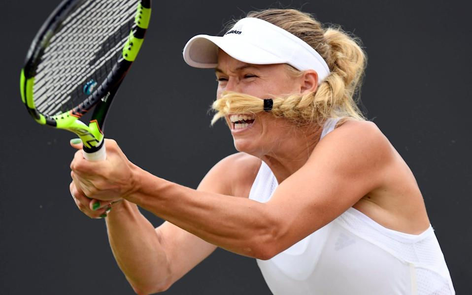 Caroline Wozniacki has previously complained about a bias towards male players - Credit: WILL OLIVER