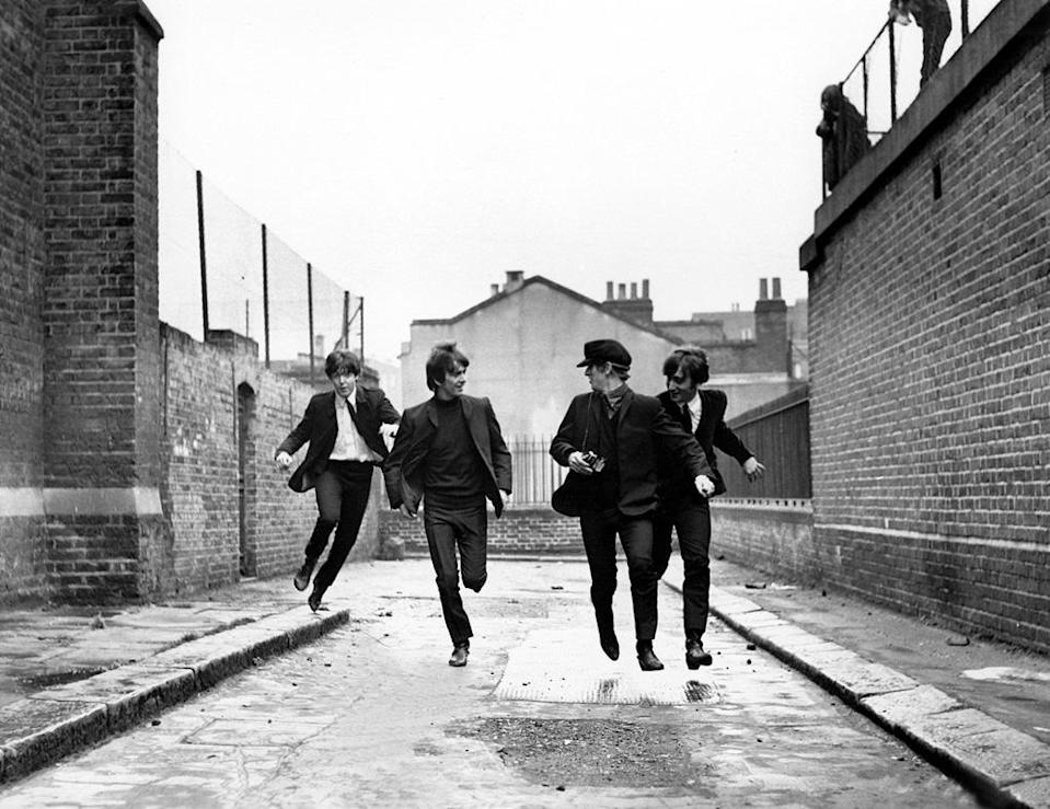 """<a href=""""http://movies.yahoo.com/movie/a-hard-days-night/"""" data-ylk=""""slk:A HARD DAY'S NIGHT"""" class=""""link rapid-noclick-resp"""">A HARD DAY'S NIGHT</a> (1964) <br>Directed by: <span>Richard Lester</span> <br>Starring: <span>John Lennon</span>, <span>Paul McCartney</span>, <span>George Harrison</span> and <span>Ringo Starr</span>"""