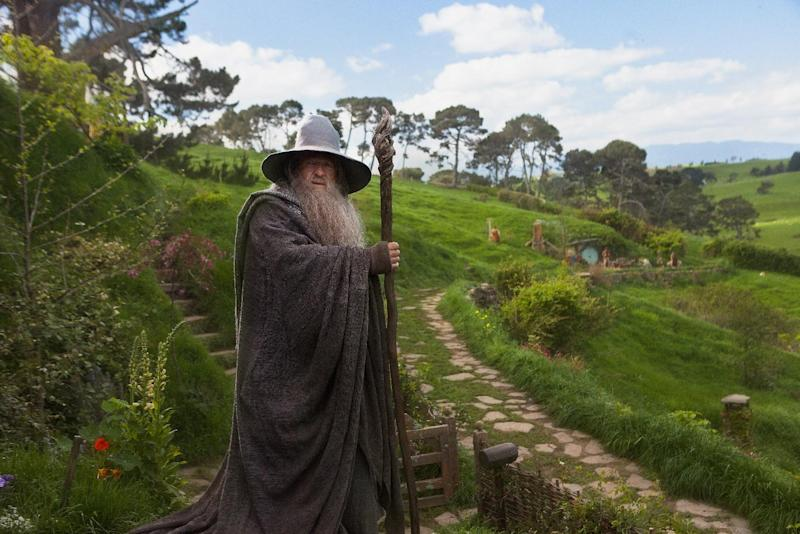 """This film image released by Warner Bros., shows Ian McKellen as Gandalf in a scene from the fantasy adventure """"The Hobbit: An Unexpected Journey."""" (AP Photo/Warner Bros., James Fisher)"""