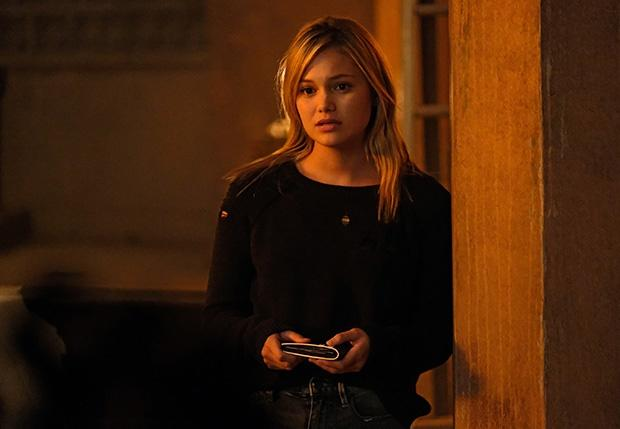 Olivia Holt in a scene from the Marvel series Cloa