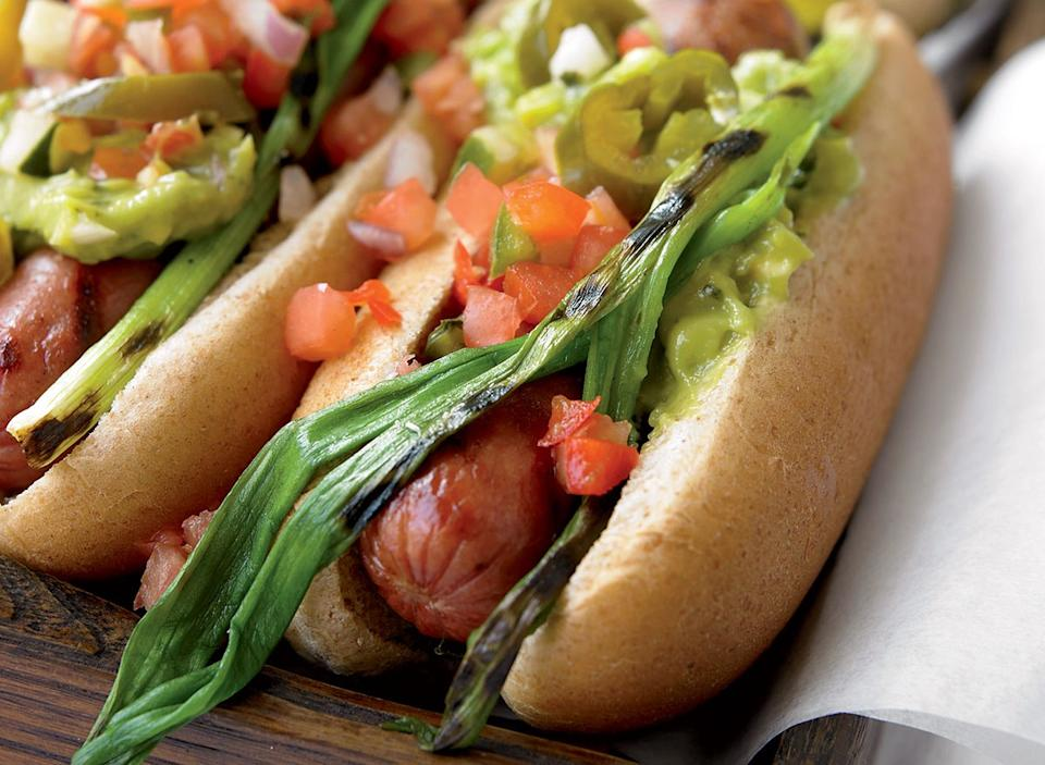 Healthy mexican hot dogs
