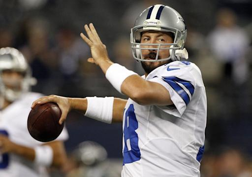 FILE - In this Sunday Dec. 2, 2012 file photo, Dallas Cowboys quarterback Kyle Orton (18) passes the ball before an NFL football game against the Philadelphia Eagles in Arlington, Texas. The Dallas Cowboys are releasing Kyle Orton after their backup quarterback missed all the offseason workouts amid reports that he was considering retirement, Tuesday, July 15, 2014.(AP Photo/Tony Gutierrez, File)