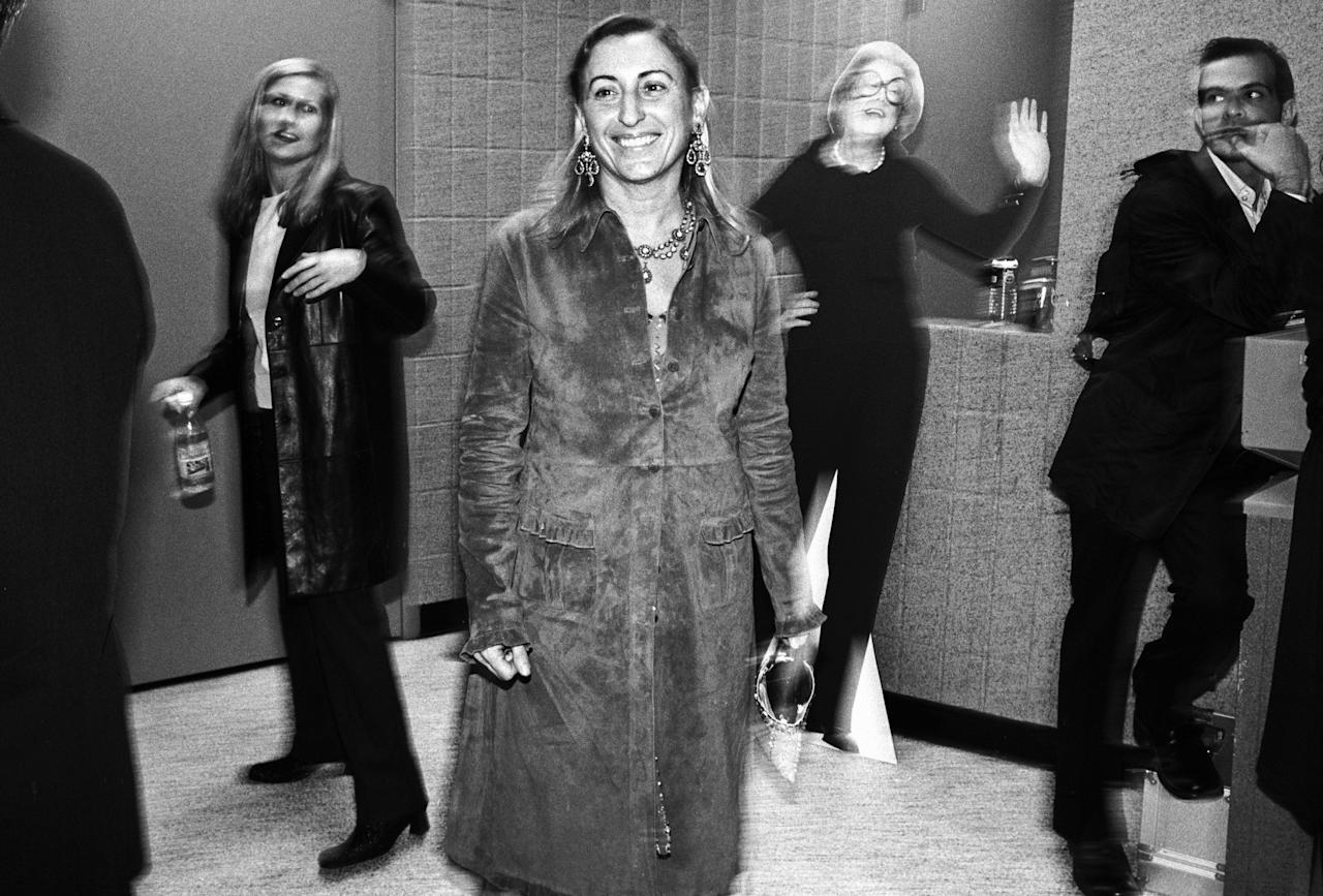 <p>Miuccia Prada was born on May 10, 1949 in Milan, Italy as Maria Bianchi Prada. Although she was the youngest granddaughter of Mario Prada, a luggage designer to the Milanese elite, she did not enter the family business until she felt the company became stagnant in 1978. Previously, she attended the University of Milan where she was known as a feminist and member of the Italian Communist Party, received her PhD in political science, and trained as a mime at Piccolo Teatro. In 1985, she reimagined Prada merchandise with her own designs, most notably introducing black nylon bags with minimal labeling. Without any formal fashion training, Prada transformed her family business into a multibillion dollar fashion powerhouse. Although the elusive designer has famously declined to name her official muses, ahead are the people who have most inspired Prada. </p>