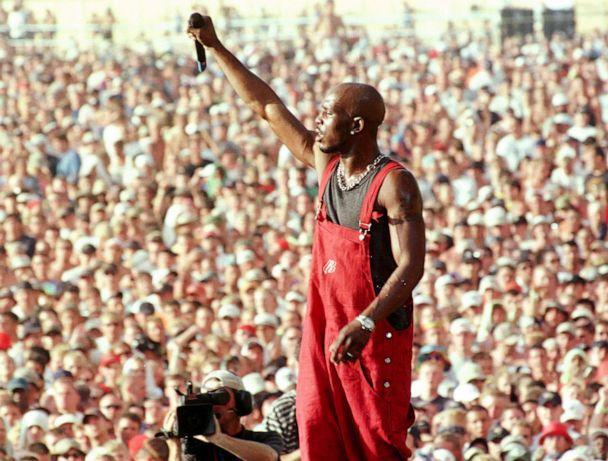 PHOTO: Earl Simmons, better known as rap musician DMX, performs on the main stage at the Woodstock music and arts festival in Rome, N.Y., July 23, 1999. (Joe Traver/Reuters, FILE)
