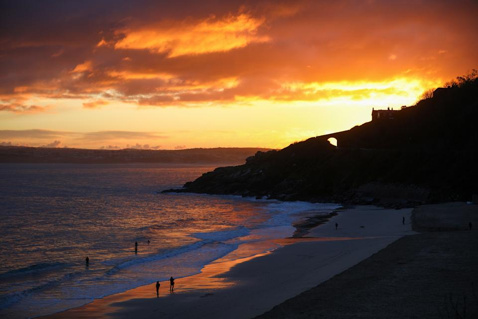 <p>Porthminster Beach, near the Carbis Bay venue for the G7 summit</p> (Reuters)