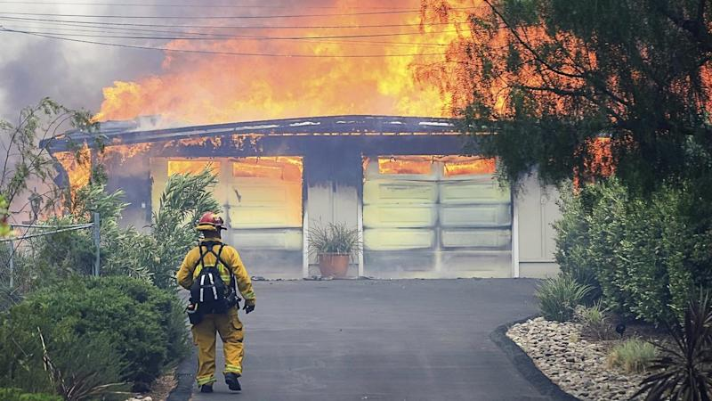 In San Diego County, a blaze that broke out near the community of Alpine has spread quickly