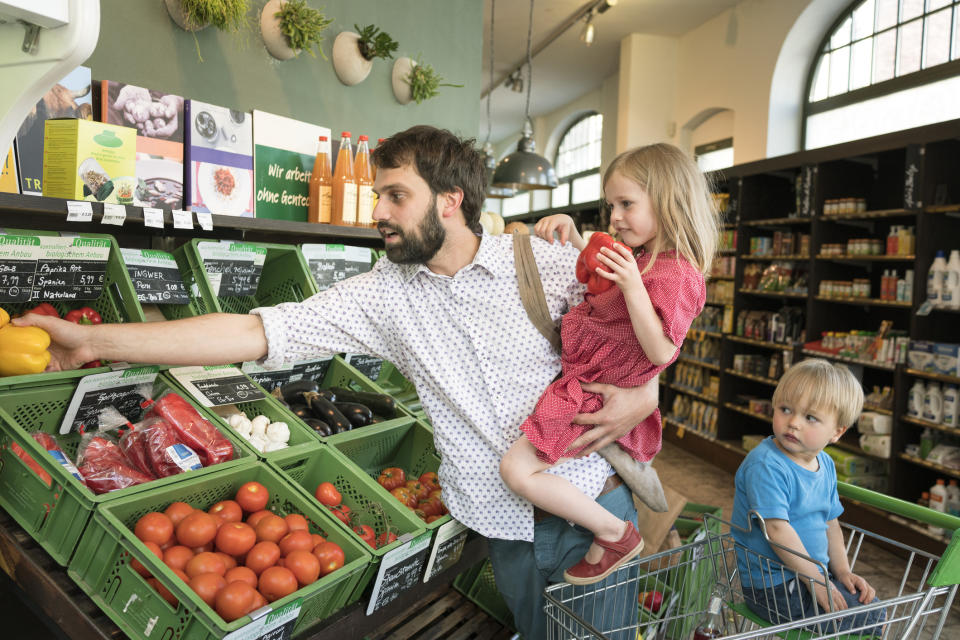 Being conscious of what we eat can help encourage children to be more environmentally friendly in the future [Photo: Getty]