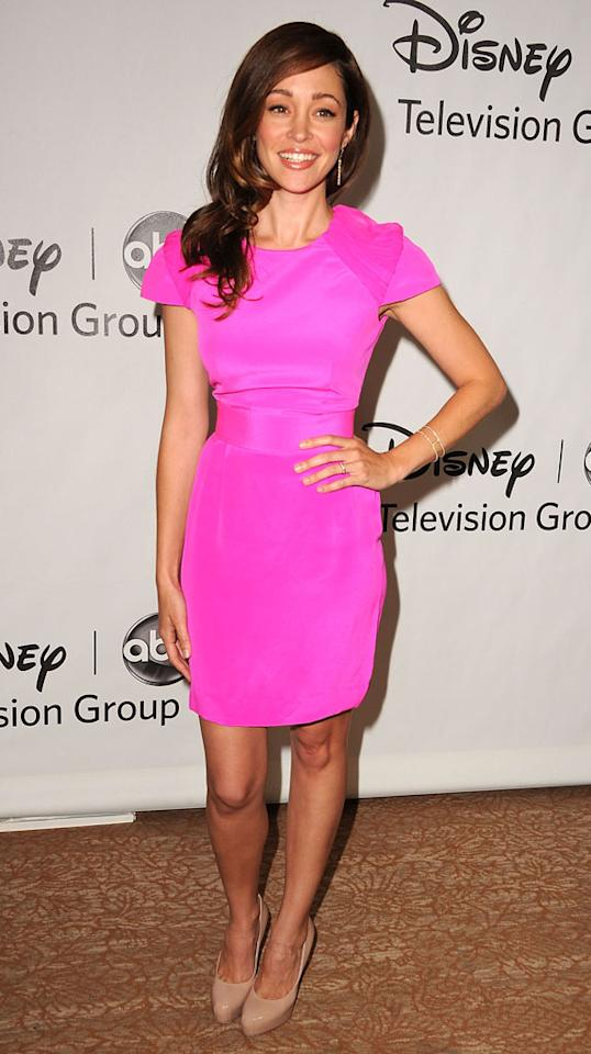 """Autumn Reeser (""""Last Resort"""") arrives at  the Disney/ABC Television Group Summer 2012 Press Tour Party at The  Beverly Hilton Hotel on July 27, 2012 in Beverly Hills, California."""