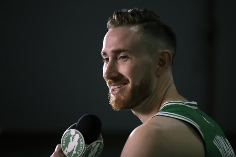 After a rollercoaster year following his leg injury, Gordon Hayward is feeling back to normal. Danny Ainge, though, doesn't want fans getting too excited.