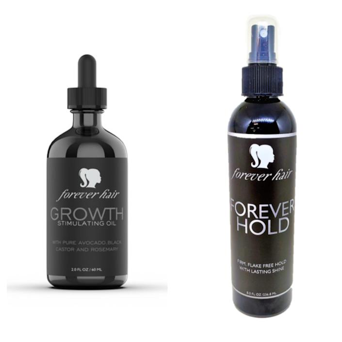 """Tessica Brown's """"Forever Hair"""" products that launched on June 15."""