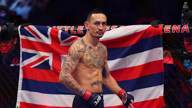 Max Holloway and Frankie Edgar battle for Holloway's featherweight title in the main event of Saturday's UFC 240 at Rogers Place in Edmonton, Alberta, Canada.