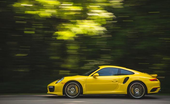 <p>Select Sport+ mode, turn off the stability control, depress the brake, depress the accelerator, lift the brake pedal for launch, and prepare for the 911 Turbo S's unique take on the theme of acceleration: a tidy, controlled, and extremely rapid accumulation of speed.</p>