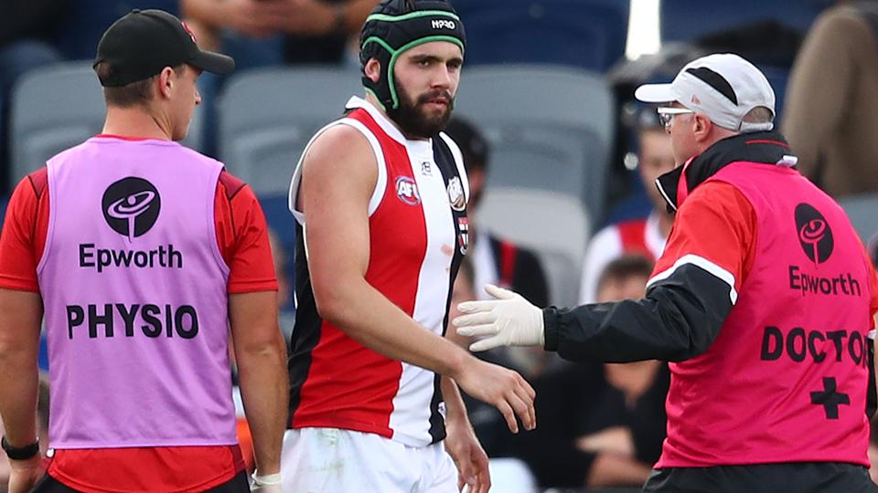 Former St Kilda forward Paddy McCartin will mount an AFL comeback through the Sydney Swans reserves. (Photo by Scott Barbour/Getty Images)