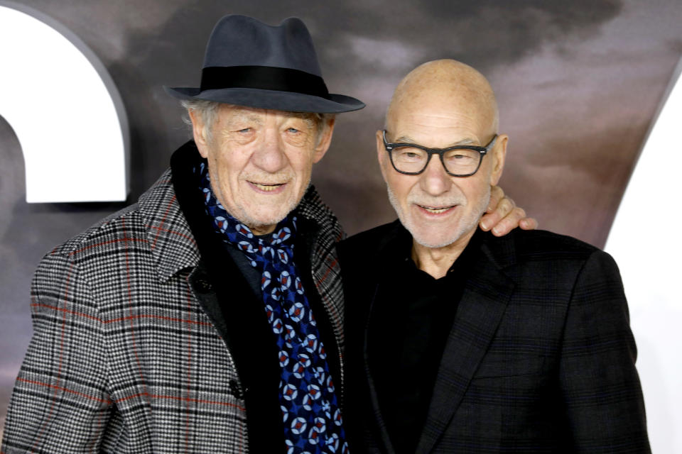 Sir Ian McKellen (left) and Sir Patrick Stewart attending the Star Trek: Picard Premiere held at the Odeon Luxe Leicester Square, London.