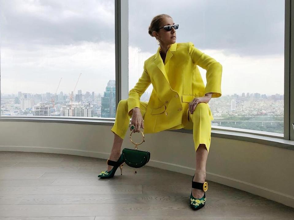 Celine Dion is an unstoppable fashion force. [Photo: Instagram]