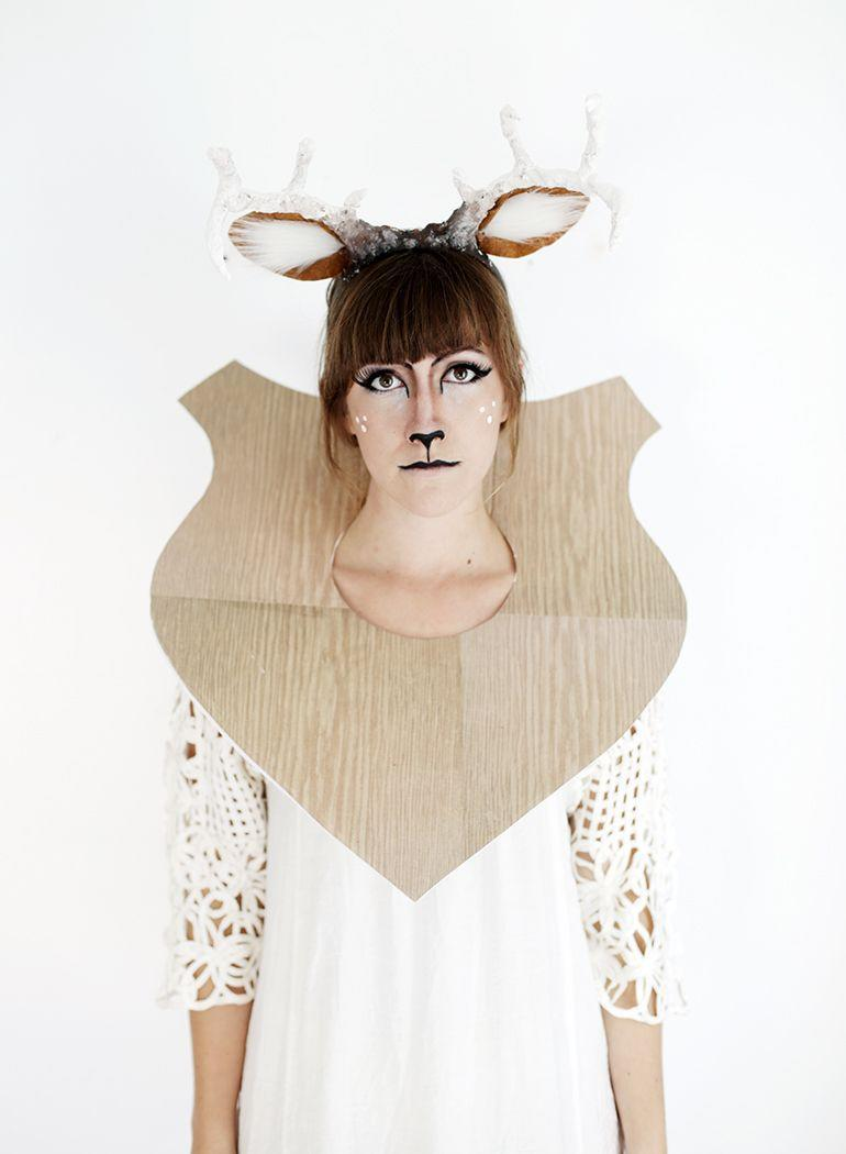 """<p>How's this for clever? The gals at the Merrythought have all the instructions you need for this adorable taxidermy deer costume.</p><p><strong>Get the tutorial at <a href=""""https://themerrythought.com/diy/diy-taxidermy-deer-costume/"""" rel=""""nofollow noopener"""" target=""""_blank"""" data-ylk=""""slk:the Merrythought"""" class=""""link rapid-noclick-resp"""">the Merrythought</a>.</strong></p><p><a class=""""link rapid-noclick-resp"""" href=""""https://www.amazon.com/s?k=white+faux+fur&ref=nb_sb_noss&tag=syn-yahoo-20&ascsubtag=%5Bartid%7C10050.g.28181767%5Bsrc%7Cyahoo-us"""" rel=""""nofollow noopener"""" target=""""_blank"""" data-ylk=""""slk:SHOP WHITE FAUX FUR"""">SHOP WHITE FAUX FUR</a></p>"""