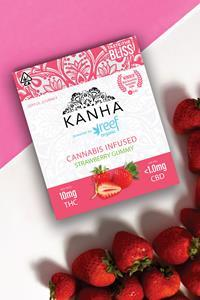 Kanha powered by Reef Organic cannabis infused strawberry gummies
