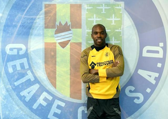 Allan Nyom is in the form of his life for Getafe, who play Barcelona on Saturday and sit third in La Liga. (AFP Photo/PIERRE-PHILIPPE MARCOU)