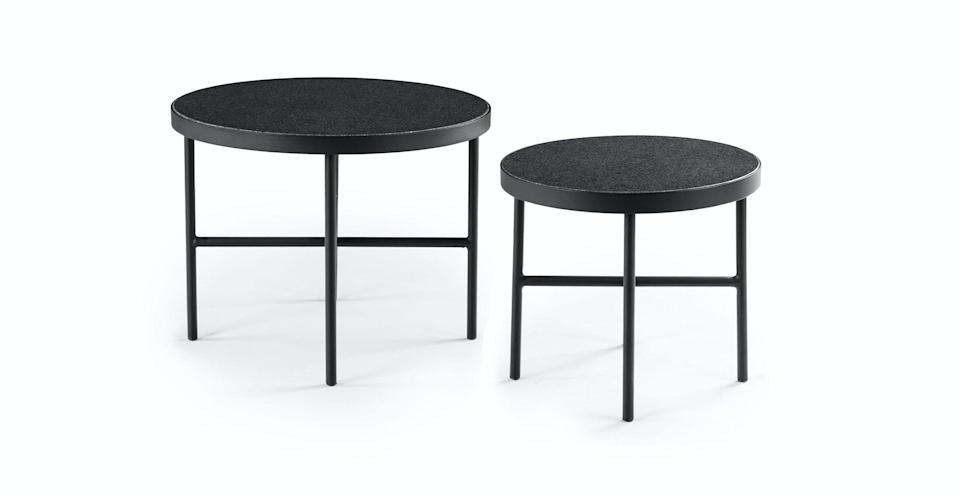<p>This <span>Article Gera Black Granite Side Table Set</span> ($239) is such a useful set.</p>