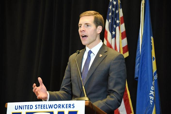 Conor Lamb, a moderate Democrat, won a special election in a pro-Trump district in Pennsylvania by steering clear of criticizing the president directly (AFP Photo/Michael Mathes)