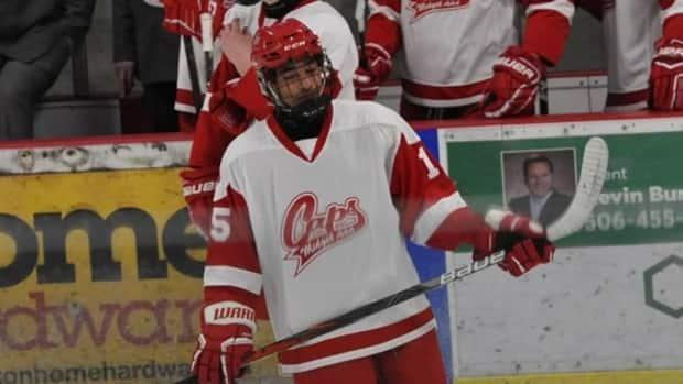 Noah Gibbs, a player with the Fredericton Caps U18 AAA hockey team, said he isn't worried about the unusual season holding him back in his chances at advancing in the sport.