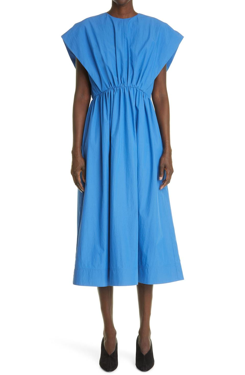"""<h2><a href=""""https://www.nordstrom.com/brands/co--13908"""" rel=""""nofollow noopener"""" target=""""_blank"""" data-ylk=""""slk:Up to 68% off Co"""" class=""""link rapid-noclick-resp"""">Up to 68% off Co</a></h2><br><br><strong>Co</strong> Gathered A-Line Poplin Midi Dress, $, available at <a href=""""https://go.skimresources.com/?id=30283X879131&url=https%3A%2F%2Fwww.nordstrom.com%2Fs%2Fco-gathered-a-line-poplin-midi-dress%2F5930900"""" rel=""""nofollow noopener"""" target=""""_blank"""" data-ylk=""""slk:Nordstrom"""" class=""""link rapid-noclick-resp"""">Nordstrom</a>"""