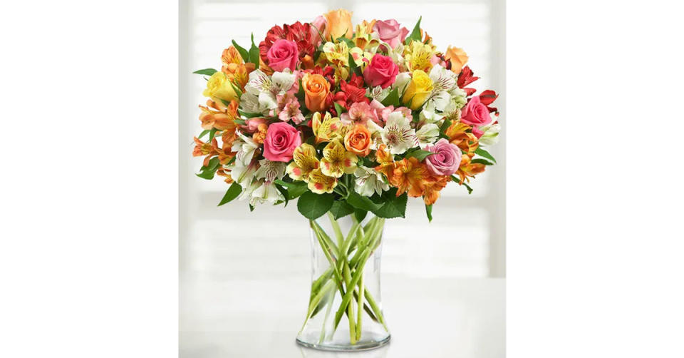 Assorted Roses & Peruvian Lilies (Photo: 1800Flowers.com)