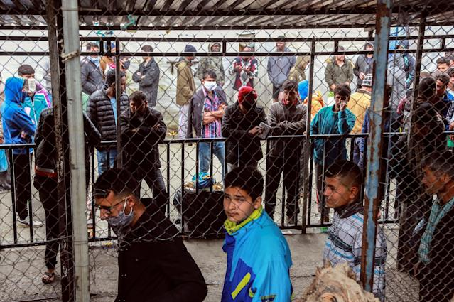 Coronavirus could spread faster in overcrowded refugee and displaced persons camps according to the International Rescue Committee. (Getty Images)