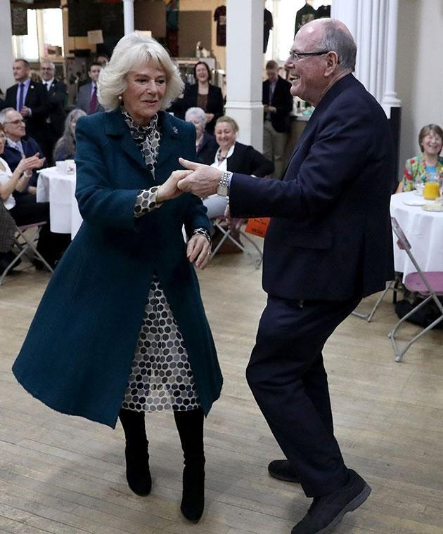 Camilla was all smiles as she hit the dance floor with Arthur. Photo: Getty images