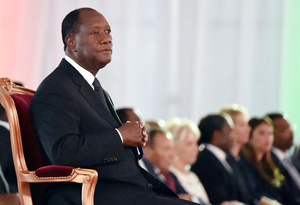Ivory Coast's President Alassane Ouattara at the presidential palace in Abidjan on November 3, 2015 (AFP Photo/Sia Kambou)
