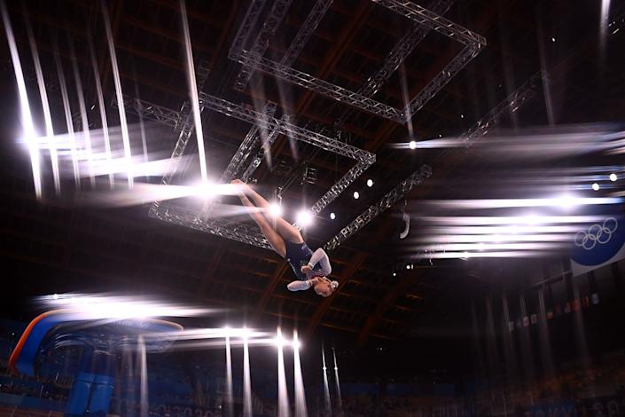 <p>She made the Tokyo team as an individual competitor but did not participate in the team competition.</p>