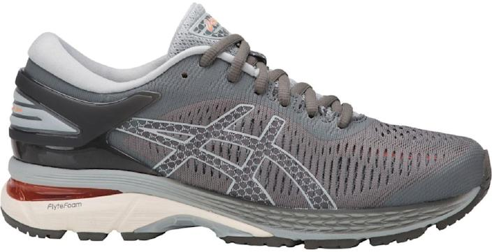 """<p><strong>ASICS</strong></p><p>rei.com</p><p><a href=""""https://go.redirectingat.com?id=74968X1596630&url=https%3A%2F%2Fwww.rei.com%2Fproduct%2F135271&sref=https%3A%2F%2Fwww.popularmechanics.com%2Fadventure%2Foutdoor-gear%2Fg30361215%2Frei-end-of-year-sale%2F"""" rel=""""nofollow noopener"""" target=""""_blank"""" data-ylk=""""slk:Shop Now"""" class=""""link rapid-noclick-resp"""">Shop Now</a></p><p><del>$160</del><strong><br>$79.83</strong></p><p>Start 2020 on the right foot with this pair from ASICS. The GEL-Kayano 25 Road-Running Shoe are equipped with the brand's signature technology—such as FluidRide, FlyteFoam Propel, and FlyteFoam Lyte—to ensure a secure comfortable fit. </p><p>Psst...this pair's <a href=""""https://www.rei.com/rei-garage/product/169306/asics-gel-kayano-25-road-running-shoes-mens"""" rel=""""nofollow noopener"""" target=""""_blank"""" data-ylk=""""slk:men's sizes"""" class=""""link rapid-noclick-resp"""">men's sizes</a> are also on sale.</p>"""
