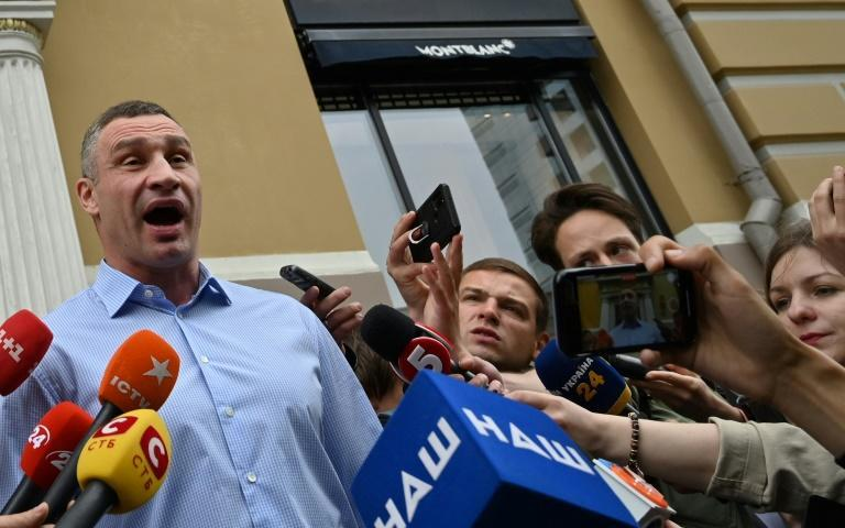 'Someone is very annoyed with the city initiatives,' Klitschko told reporters outside his appartment block