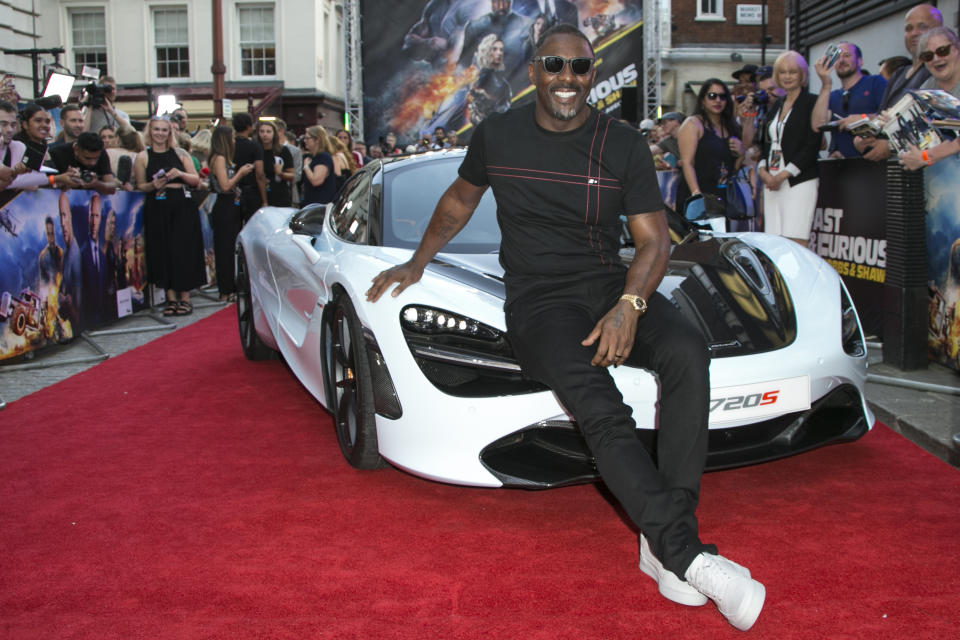 Actor Idris Elba poses for photographers at a special screening of Fast & Furious: Hobbs & Shaw, in a central London cinema, Tuesday, July 23, 2019. (Photo by Joel C Ryan/Invision/AP)