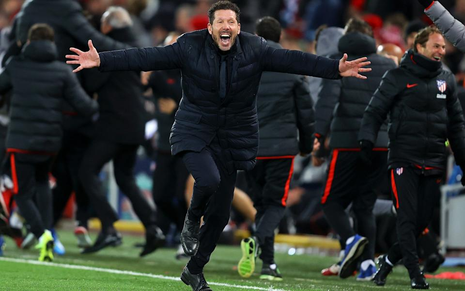 Diego Simeone celebrates a remarkable comeback - GETTY IMAGES