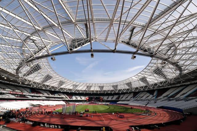 The London Stadium is due to host a match between West Ham and Chelsea (Adam Davy/PA)