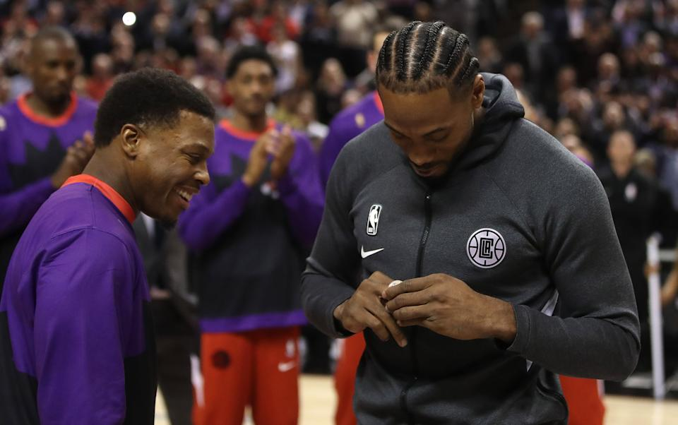 Could a reunion be in store for Kawhi Leonard and the Toronto Raptors. (Steve Russell/Toronto Star via Getty Images)