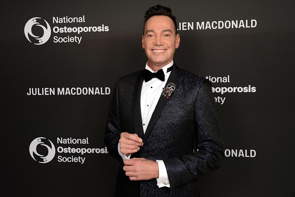 Craig Revel Horwood attends the Julien Macdonald Fashion Show for National Osteoporosis Society at Lancaster House on November 21, 2018 in London, England. (Photo by Dave J Hogan/Dave J Hogan/Getty Images for the National Osteoporosis Society)